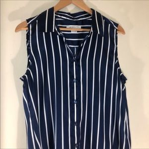 Liz Claiborne Tops - Liz Claiborne nautical striped tank top blouse med